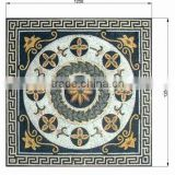 Classic square type natural marble dinning mosaic pattern table top