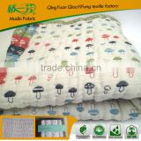 100%Cotton 100%bamboo rice knitted laddering blanket throw