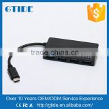 2016 New High Speed Usb 3.1 Type-C Type C Cable Connector Data Cable to 4 Port female USB 3.0 Adapter for Nokia/xiaomi 5