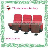 Fbric commercial theater chairs theater seats with single leg