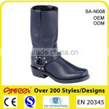 Top quality ASTM standard full grain leather motorcycle riding boots, boots motorcycle, used motorcycle boots (SA-N008)