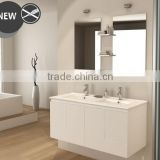 White bathroom vanity top with cabinet, Waterproof wood bathroom vanity, Waterproof bathroom vanity