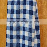 Luxury Bamboo Kitchen Dish Towel-Navy and Natural Plaid,Also Makes a great Tea Towel and Hand Towel