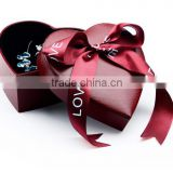 Wholesale custom storage distribution kraft paper gift empty heart shaped packaging chocolate box