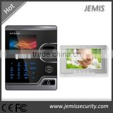 HD Camera 7'' indoor Video Intercom, TCP/IP, RS485, WANs control, biometric fingerprint video intercom access control