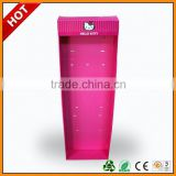 paper gravity feed hanging display ,paper floor display with hanger ,paper floor display for lady wallet