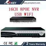 Best seller 16CH P2P IP Camera Software NVR 8POE Support RT3070 USB WIFI