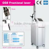 Acne Scar Removal High Quality 60W Imported Metal RF Tube New Painless Products 2015 Co2 Fractional Laser In Laser Equipment 8.0 Inch Vascular Treatment