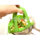 Kitchen Dish Steamer Basket Portable Chinese Microwave Silicone Vegetable Food Steamer