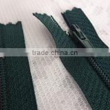 5# 20.5 inch Green Closed Bottom Coil Zipper, Coil Zipper, Nylon Closed End Zipper, Green Zipper