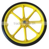 20 inch PU bicycle wheel with plastic rim