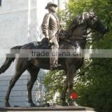 famous bronze man riding horse statue
