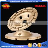 "125mm double row diamond grinding wheel 5"" abrasive polishing disc for concrete granite marble double cup wheel"