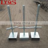 Solid and Hollow Scaffolding Base Jack with U Head Base Jack for Cuplock Scaffolding System Construction
