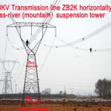 MEGATRO 500KV Transmission line ZB2K horizontal type cross-river (mountain)suspension tower