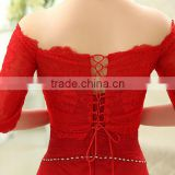 Lace Bolero Jackets for Evening Dresses Bridal red Jackets Cap off shoulder Lace Bride Shrugs Capes Party Wraps