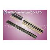 1.27mm Pitch Male Pin Header Connector 20 pin , Double Row Pin Header for office equipments
