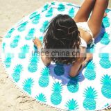 150CM 3D Printed Bath Towel Large Tassel Beach Towel Throw Microfiber Adults Sport Towels Round Bath Towel Sunbath Yoga Mat