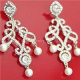 Fashion Unicom Shape Pearl Zinc Earrig