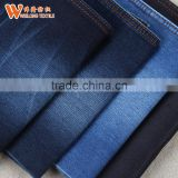 Cotton poly spandex coffee brown jeans denim fabric