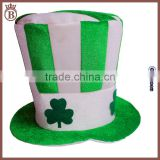 Velvet St. Patrick's Day Clover Irishman Party Favor Green Top Hats