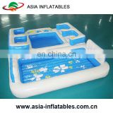 Customize inflatable outdoor beach island inflatable pool lounge float island Inflatable floating bar with tent