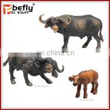 Vivid african buffalo model set bulk plastic animal toys