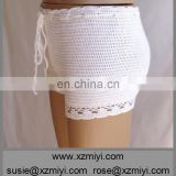 ivory shorts crochet shorts clothing summer beachwear soft beach shorts lace shorts swimsuit