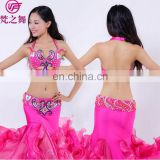 Egyption hot sales the most popular lady belly dance costumes bra and belt and skirt set