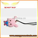 hot selling cute mouse soft pvc cell phone strap