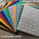 New material decorative pattern wall brick 3d xp foam wall sticker