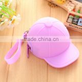 Hotest Design silicone rubber mini cap coin purse Trend Women Coin Handbag Purse                                                                                                         Supplier's Choice