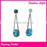 Semi precious stone silver earring wholesale blue stone jewelry