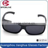 Black stylish eye protective glasses big over sunglasses for myopia cycling motorcycle driving travelling