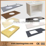 Prefab or Customized Colorful Style Bathroom Quartz Vanity Top
