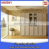 l shape bedroom wardrobe with glass door closet cabinet design                                                                         Quality Choice
