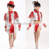 Latest 2016 jazz dance costumes performing children Boys stage costume stage show costumes