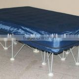 Camp cot with air bed