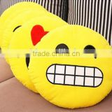 free sample Funny rabbit emoji pillow/Quality most popular stuffed rabbit toy with emoji pillow