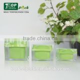 80g super quality double wall acrylic transparent outer jar and PP inner jar plastic empty cosmetic jar