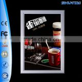 led open sign aluminum snap frame with poster