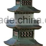 New Outdoor Japanese Garden Stone Finish Pagoda Lanterns