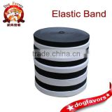 Imported high elastic elastic band in black and white wide bandwidth durable elastic rubber one a bundled sale