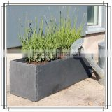 Black slate stone large plant and flower pot