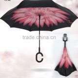New design C handle Upside Down Double Layer inverted advertising/promotion/golf umbrella