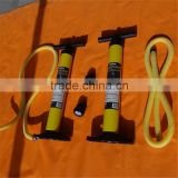 High Pressure double action hand pump/ effort with a gauge yellow hand pump/Plastic hand pump