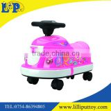 Amusement electronic children bumper car toy with voice and light