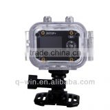 2014 hot sale IP68 60M underwater diving DV 1080P wifi sport camera, remote control sport camera