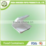 "China Disposable 8"" Food Containers with sugarcane pulp."