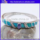 Wholesale Fashion Women's Synethic Blue Fire Opal Bangle